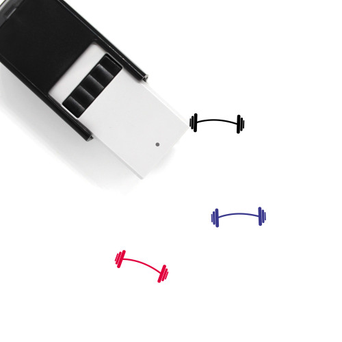 Barbell Self-Inking Rubber Stamp No. 86