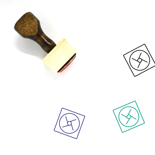 Fan Wooden Rubber Stamp No. 123
