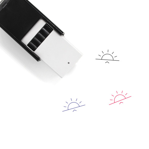 Sunrise Self-Inking Rubber Stamp No. 60