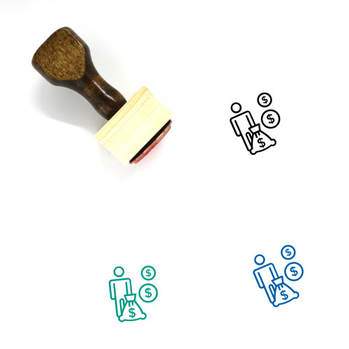 Investments Wooden Rubber Stamp No. 12