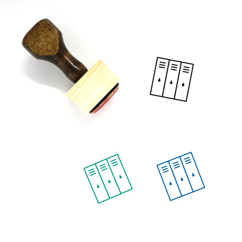 Lockers Wooden Rubber Stamp No. 46