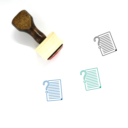 Explain Wooden Rubber Stamp No. 2