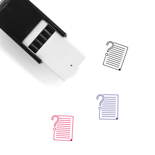 Explain Self-Inking Rubber Stamp No. 2