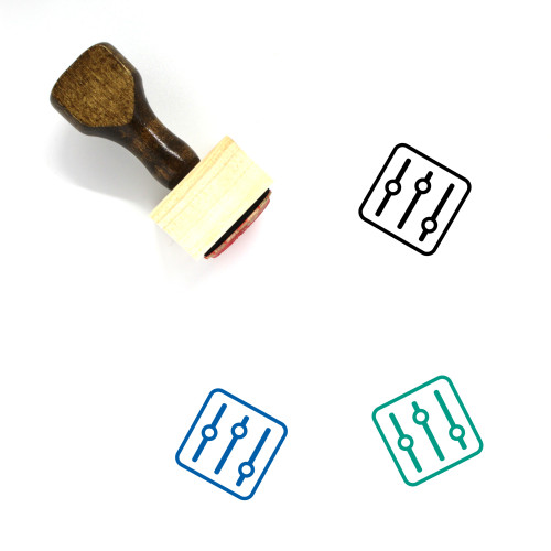 Mixer Wooden Rubber Stamp No. 70
