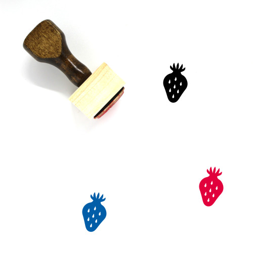 Strawberry Wooden Rubber Stamp No. 132