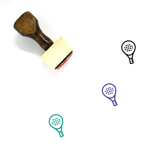 Paddle Wooden Rubber Stamp No. 5