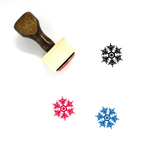 Snowflake Wooden Rubber Stamp No. 255