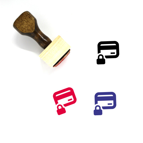 Secure Payment Wooden Rubber Stamp No. 30