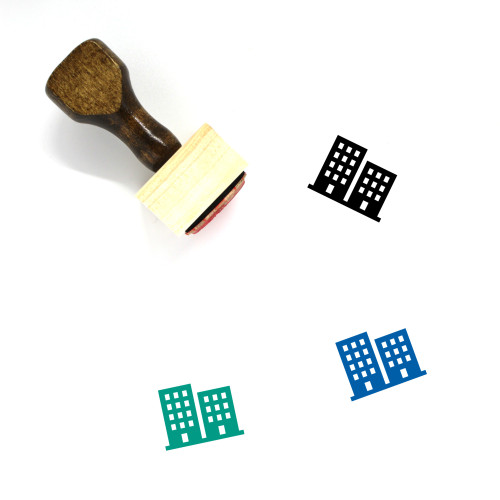 Buildings Wooden Rubber Stamp No. 109