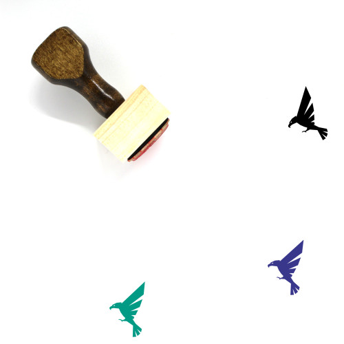 Hawk Wooden Rubber Stamp No. 28