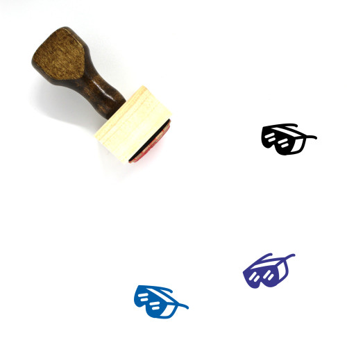 Goggles Wooden Rubber Stamp No. 54