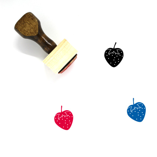 Strawberry Wooden Rubber Stamp No. 133
