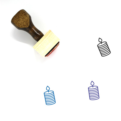 Candle Light Wooden Rubber Stamp No. 1