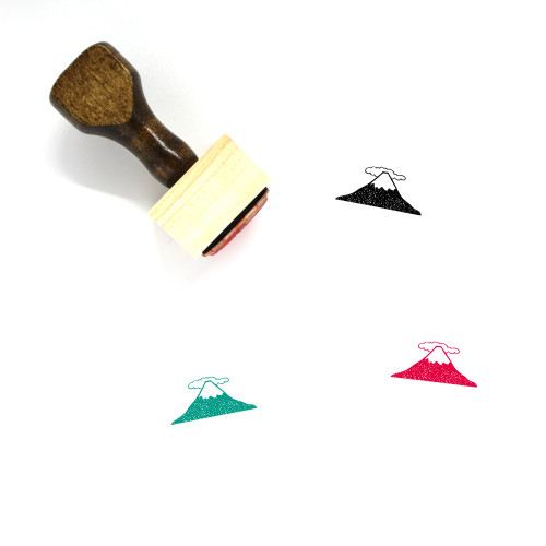 Mount Fuji Wooden Rubber Stamp No. 19