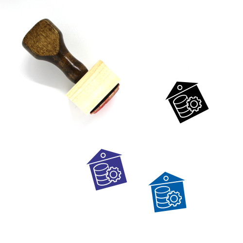 Data Warehouse Wooden Rubber Stamp No. 14
