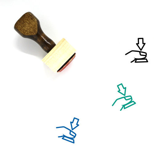 Press Button Wooden Rubber Stamp No. 28