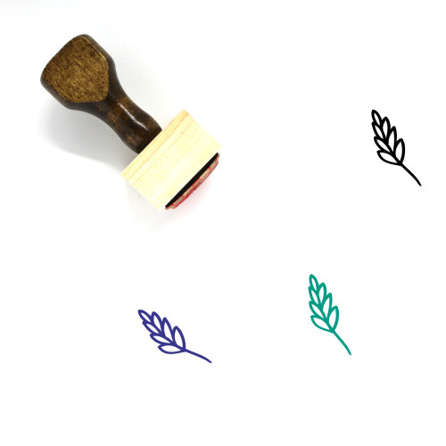 Aromatic Herbs Wooden Rubber Stamp No. 22