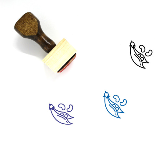 Beans Wooden Rubber Stamp No. 41