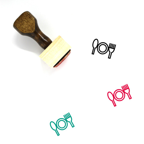 Dinner Wooden Rubber Stamp No. 50