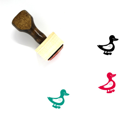 Duck Wooden Rubber Stamp No. 68