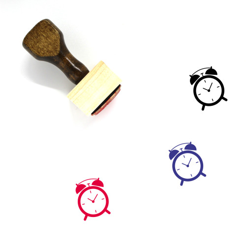 Alarm Clock Wooden Rubber Stamp No. 152