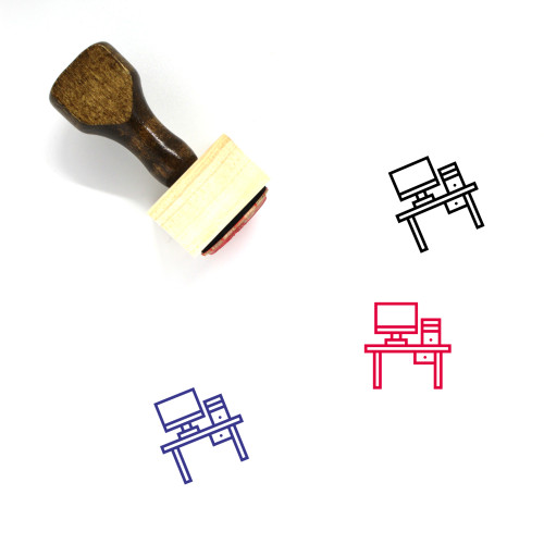 Work Desk Wooden Rubber Stamp No. 4