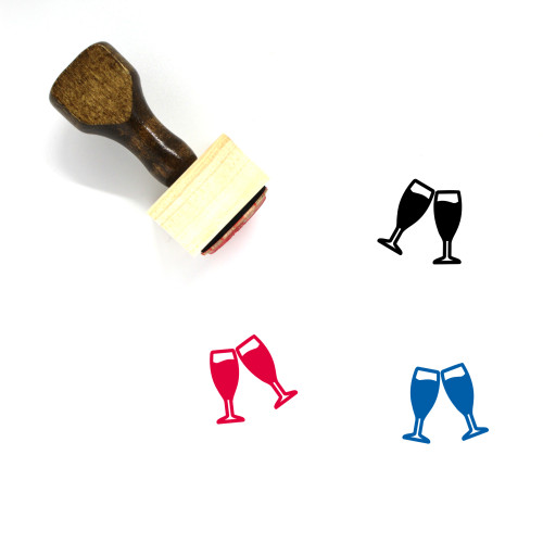 Cheers Wooden Rubber Stamp No. 41