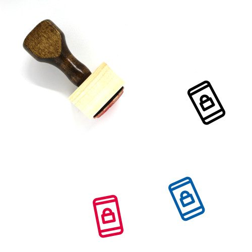 Protect Phone Wooden Rubber Stamp No. 1