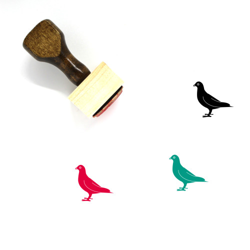 Pigeon Wooden Rubber Stamp No. 49