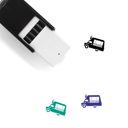 Ice Cream Truck Self-Inking Rubber Stamp No. 19