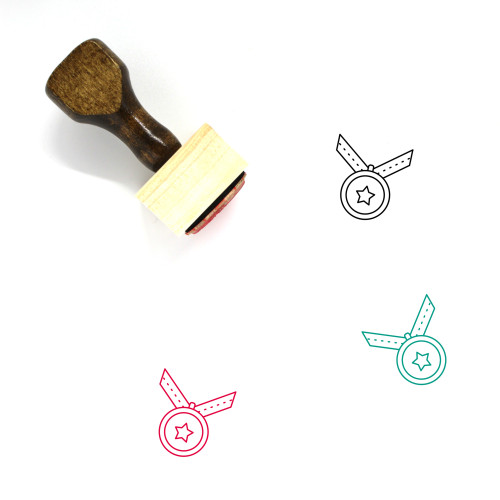 Medals Wooden Rubber Stamp No. 26