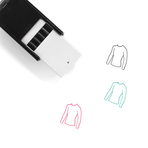 Long Sleeve Tee Self-Inking Rubber Stamp No. 2