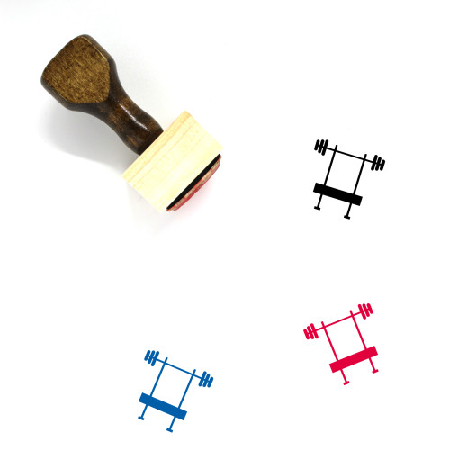 Bench Press Wooden Rubber Stamp No. 29