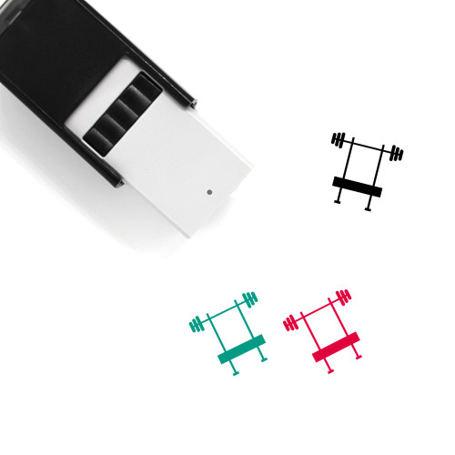 Bench Press Self-Inking Rubber Stamp No. 29