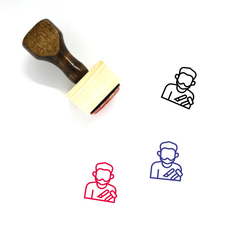 Craftsman Wooden Rubber Stamp No. 7