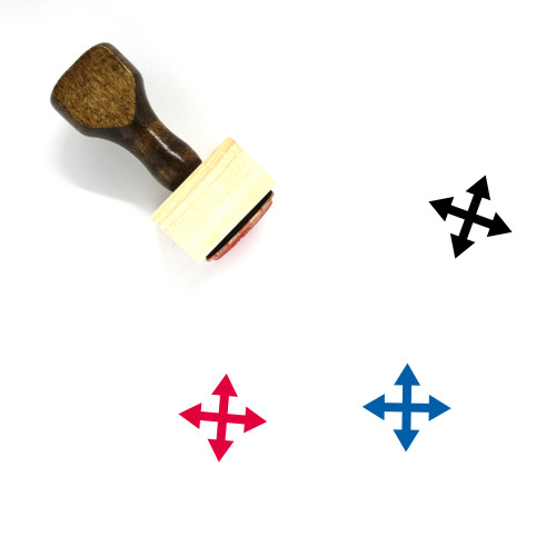 Move Wooden Rubber Stamp No. 127