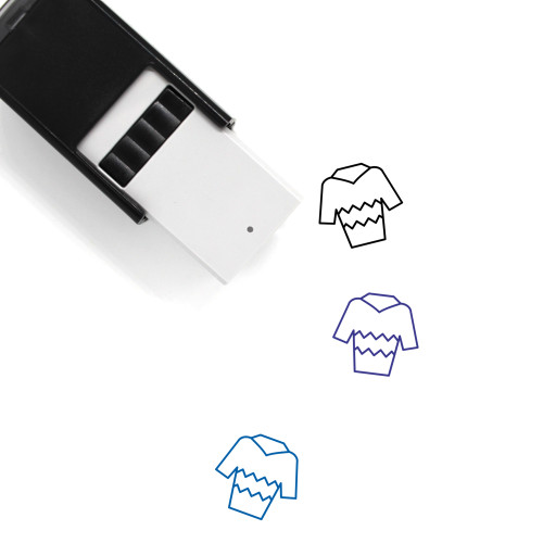 Holiday Shirt Self-Inking Rubber Stamp No. 2