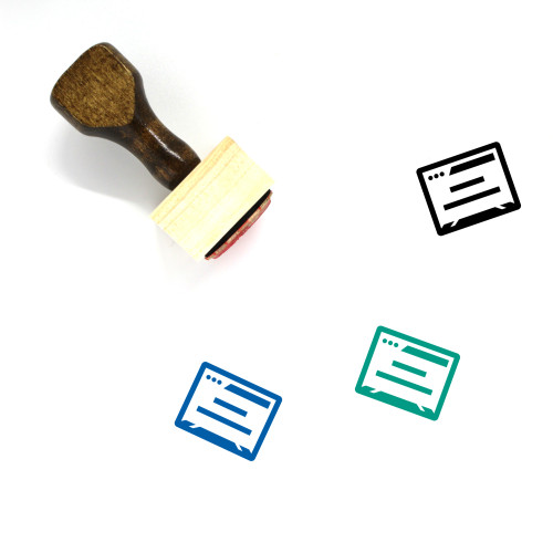 Browser Window Wooden Rubber Stamp No. 31