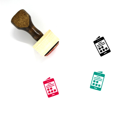 Mobile Interface Wooden Rubber Stamp No. 20