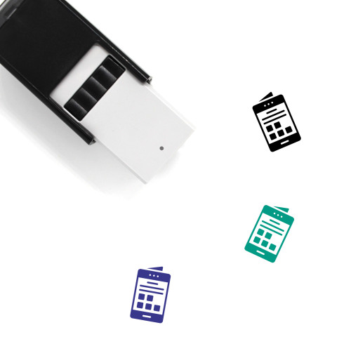 Mobile Interface Self-Inking Rubber Stamp No. 20