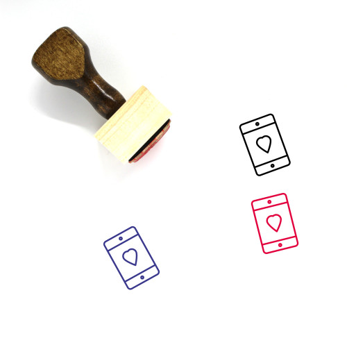 Cellphone Wooden Rubber Stamp No. 83
