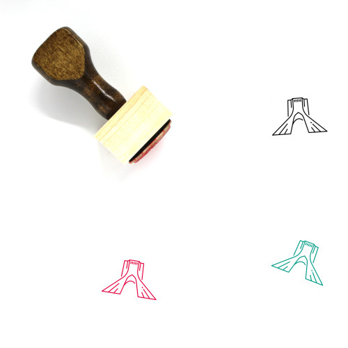 Azadi Tower Wooden Rubber Stamp No. 1