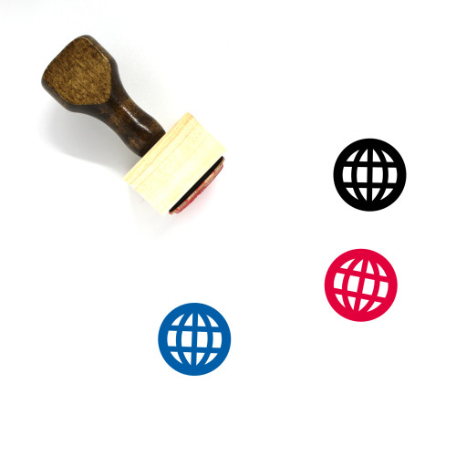 Globe Wooden Rubber Stamp No. 1357
