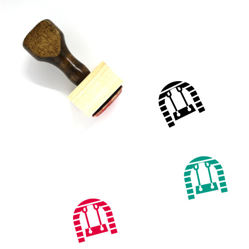 Swing Wooden Rubber Stamp No. 13