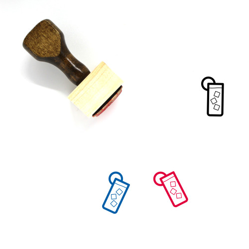 Tom Collins Wooden Rubber Stamp No. 1
