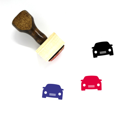Car Wooden Rubber Stamp No. 465