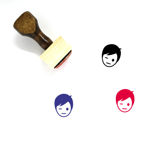Bored Wooden Rubber Stamp No. 64