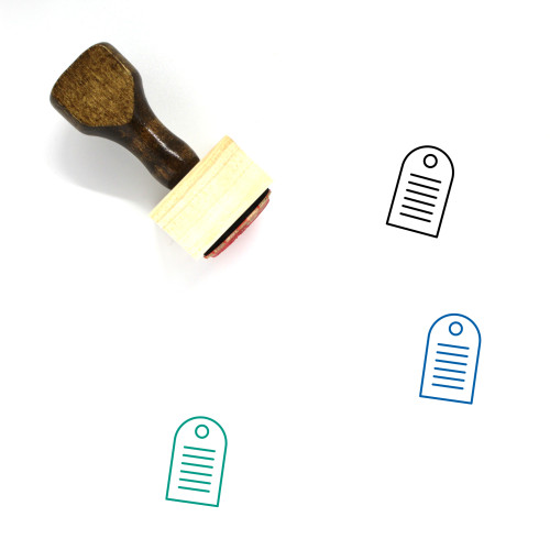 Gift Tag Wooden Rubber Stamp No. 24