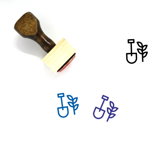 Agriculture Wooden Rubber Stamp No. 35