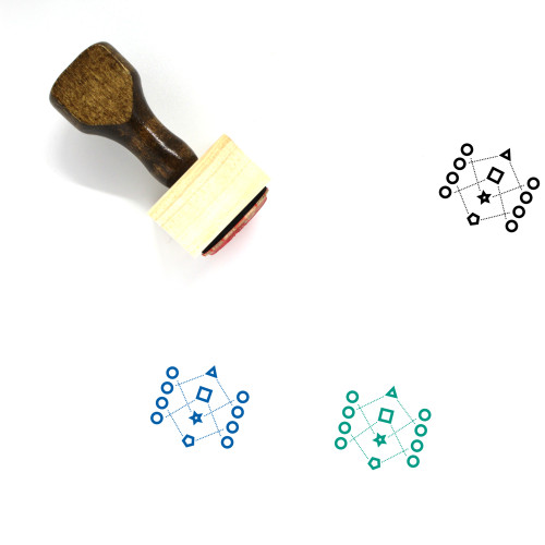 Encryption Wooden Rubber Stamp No. 28